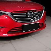 Car Accessories Chromium 2017 Modified Exterior Decorative Plating Front Grille Trim Strip Bright FOR Mazda Atenza