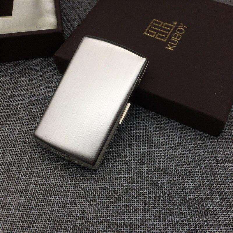 Japão estilo KC7-01 processamento de desenho do fio de aço inoxidável do sexo masculino caixa de armazenamento portátil caso pequeno cigarro cigarro cigarro 12