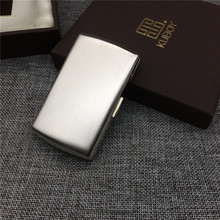 Japan style KC7-01 stainless steel wire drawing processing male portable small cigarette case cigarette 12 cigarette storage box