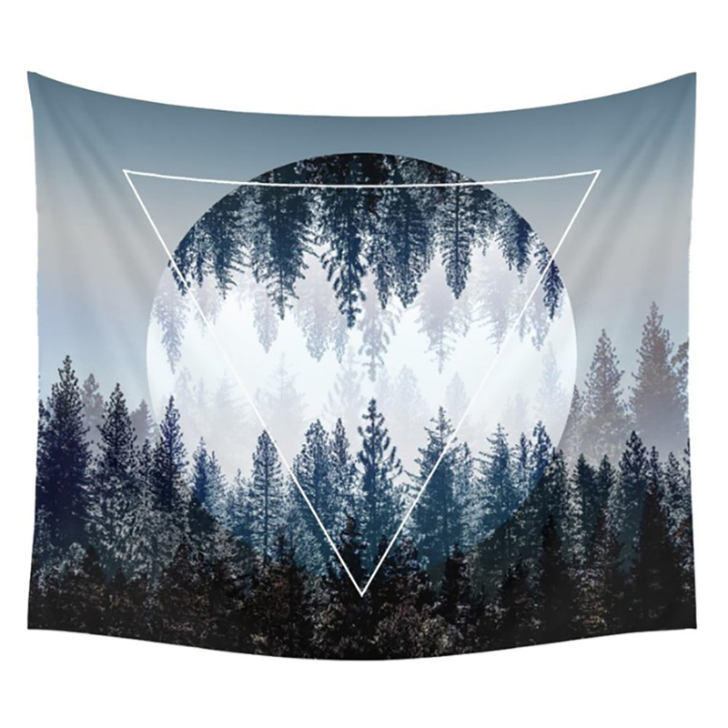 Tapestry 3D Printed Starry Sky Forest 200x150cm Wall Decoration Blankets Beach Towel Mandala Tapestry Wall Hanging Tenture Mural image