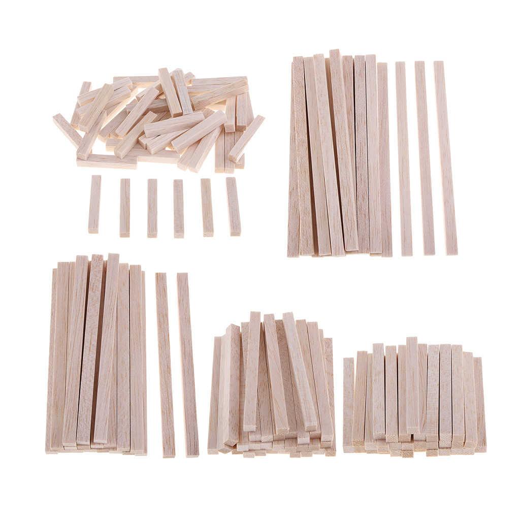10pcs Model Building Balsa Wooden Strips Craft Wood Sticks 250 X 50 X 5mm