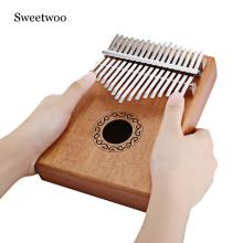 W - 17T 17 Keys Kalimba Thumb Piano High-Quality Wood Mahogany Body Musical Instrument With Learning Book Tune Hammer w h pommer piano quintet op 21