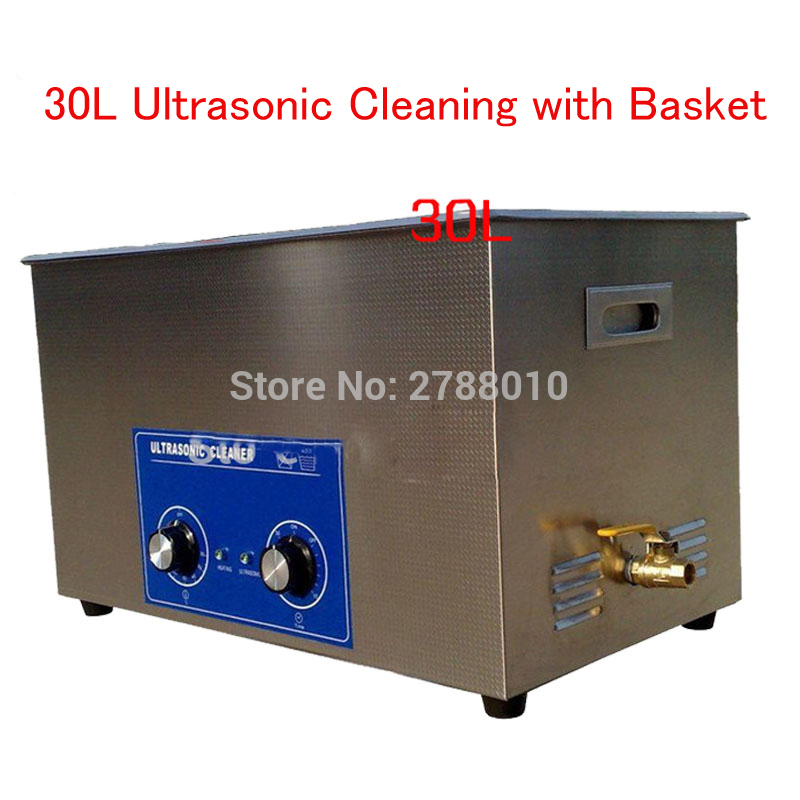 1pc 600W 30L Large Capacity Ultrasonic Cleaner Stainless Steel Cleaning Appliance with Mesh Basket PS-100 脱臭 機 オゾン