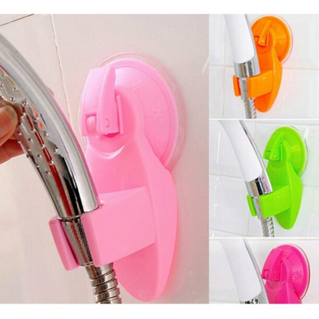 Strong Attachable Shower Head Holder Movable Bracket Powerful Suction Shower Seat Chuck Holder For Bathroom
