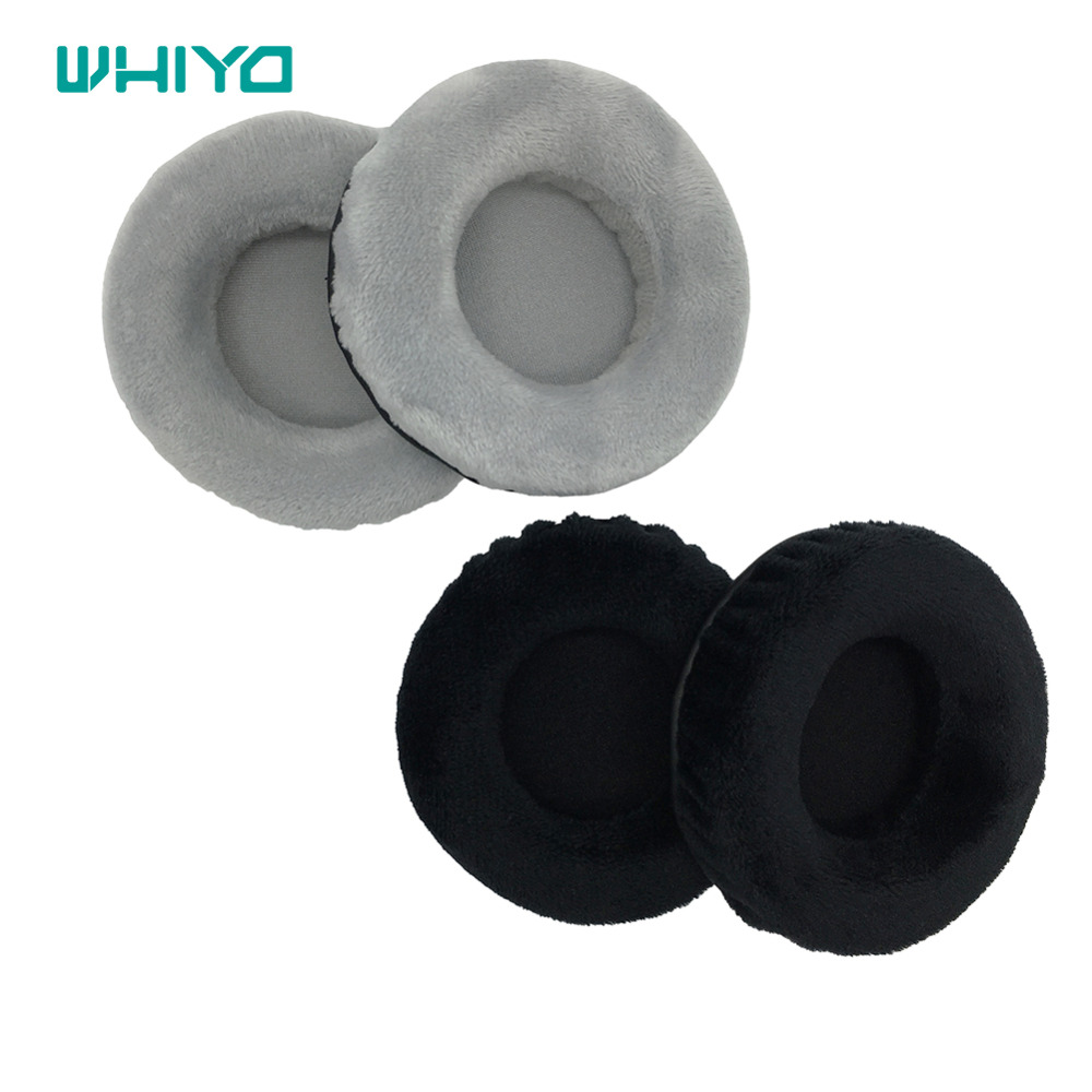 Whiyo 1 Pair of Velvet Ear Pads for isk <font><b>hp</b></font> <font><b>980</b></font> HP980 <font><b>HP</b></font>-<font><b>980</b></font> Headset Cushion Cover Earpads Replacement Parts image