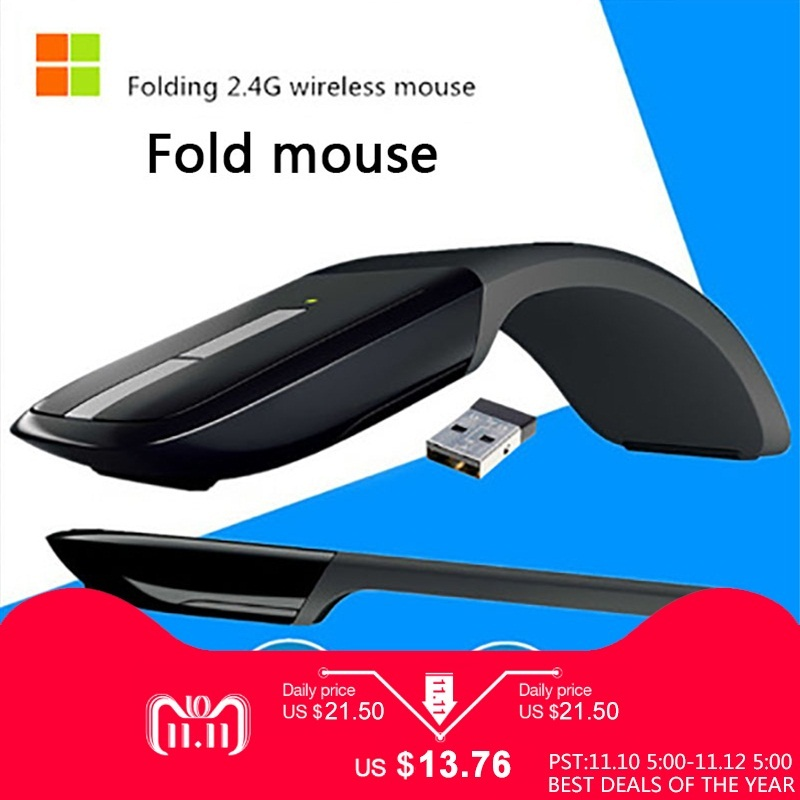 Wireless Mouse 2.4G Computer Mouse Foldable Travel Notebook Mute Mouse Mini Mice USB Nano Receiver for Laptop PC Desktop free shipping new original mouse usb receiver g series nano for logitech wireless mouse g602