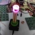 Brinquedos eletrônicos dc 12 V bobina de tesla experimento de Ensino Sem Fio tubo de transferência de energia de Transmissão com Brilho Luz indicadora