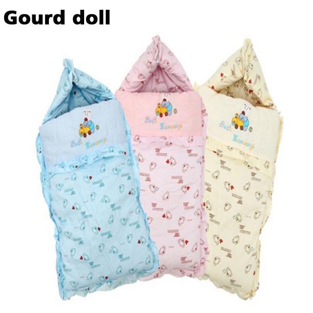 2016 Do Bebê sacos de dormir de inverno de grandes dimensões como o envelope para recém-nascidos cocoon wrap sleepsack, saco de dormir do bebê como cobertor & panos
