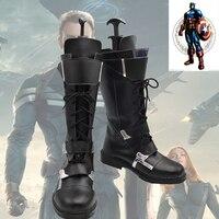 New Captain America 2 Winter Soldier Boots Cosplay Phim James Buchanan