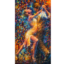 Hand Painted Dance Of Strugle Abstract Landscape Knife Modern Art Oil Painting Canvas Art Living Room hallway Artwork Fine Art