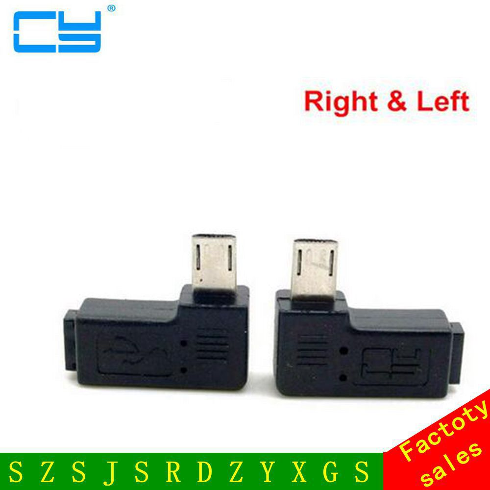 9mm pitkä pistoke 90 asteen oikea ja vasen kulma Micro USB 2.0 5Pin uros-naaras M-F jatko-liitinadapteri