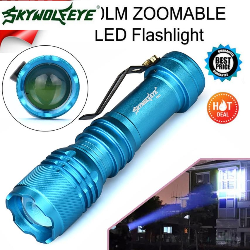 Skywolfeye 3 Modes 3000lm Cree T6 Led 18650 Flashlight Outdoor Torch Lamp Light Vem86 P20 Orders Are Welcome. Portable Lighting Lights & Lighting