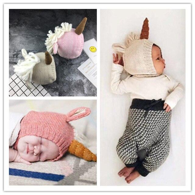 Caliente bebé recién nacido niño niña de punto sombrero del invierno ...