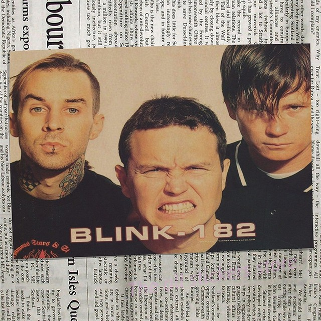 Blink 182 Vintage Retro rock muzyka zespołu gitara matowy papier pakowy antyczny plakat naklejka ścienna Home Decora/6009