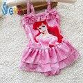Bebé del traje de baño niñas 8-15 kg rojo rosa de la Historieta del bebé trajes de baño piezas infant toddler chica traje de baño del traje de baño trajes para niñas