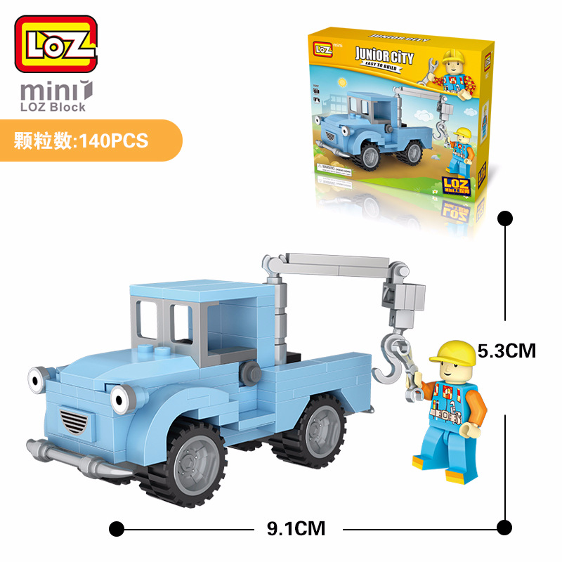 LOZ блоков техника мини Жуэ Грю camions Ingenieur Modele Enfants Jouets educatifs VOITURE палан DIY briques подделать eclairent