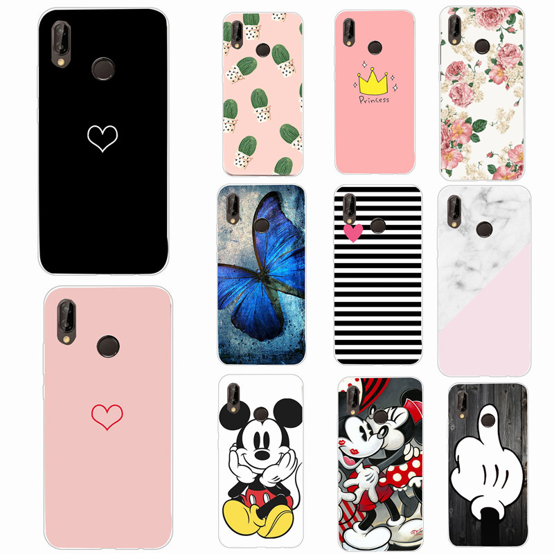 on sale 3f0e5 48efd US $0.73 34% OFF|Aliexpress.com : Buy For Huawei P20 Lite Case Love Heart  Phone Case For Huawei P Smart P 20 Pro Case Couples Cover Soft Silicone ...