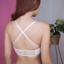 DeRuiLaDy LB Sexy Bra Wireless Thick Adjusted Straps Push Up Bra Women Seamless Underwear Women Palm Massage Shell Bra Lingerie