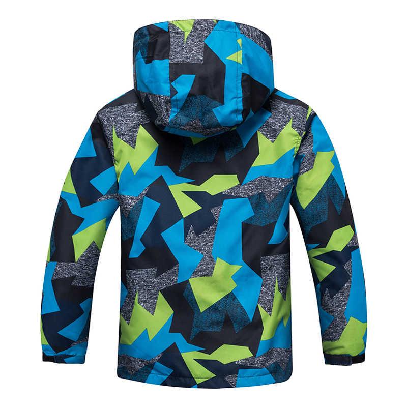 Коллекция 2019 года, весенне-осенние ветровки для мальчиков пальто из флиса Верхняя одежда для детей спортивная одежда с капюшоном двухслойная водонепроницаемая куртка