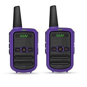 Image 4 - 2 sztuk WLN KD C52 MINI ręczny nadajnik fm KD C52 dwukierunkowe Radio szynka HF cb radio Walkie Talkie frs gmrs lepsze niż KD C51