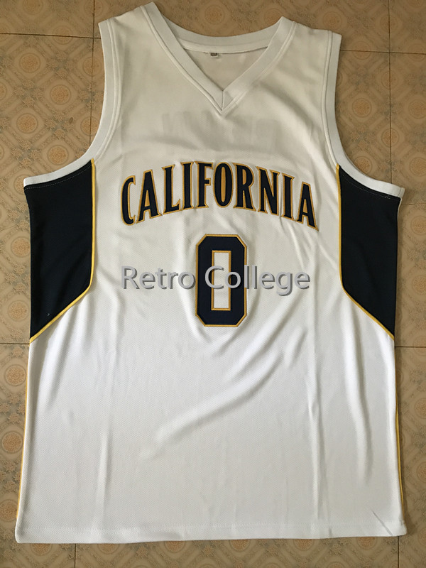 #0 Jaylen Brown California College Retro Throwback Basketball Jersey Stitched embroidery Customize any number and name цены онлайн