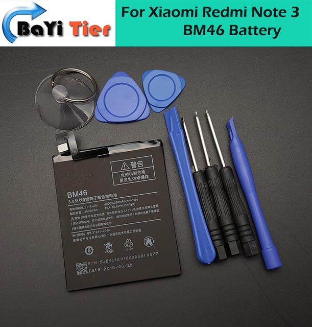 NewFor Xiaomi Redmi Note 3 Battery BM46 High Quality 4000mAh Back-up Battery for Xiaomi Redmi Note 3 For Xiaomi Smartphone