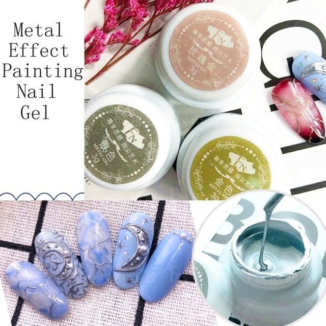 Efekt metalu żel do paznokci różowe złoto srebro UV LED narysować malarstwo tłoczenia Nail Art lakier żelowy kolorowy Manicure długotrwały żel Vernish
