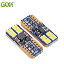10pcs High quality T10 8SMD 3030 LED canbus White Car Side Tail Light Bulb Signal light Error Free w5w 194 168 led Interior ligh