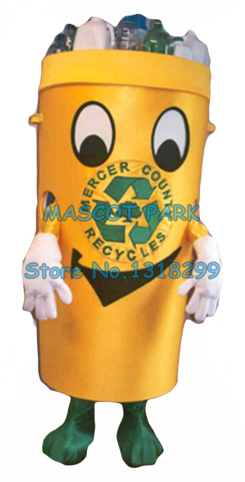 Recycle can mascot costume for adult environment protection theme anime waste ash bin cosply costumes carnival fancy dress 2853