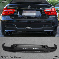 Carbon Fiber For BMW 3 Series E90 M TECH 3D style Rear Bumper Lip Protector Diffuser Car Styling