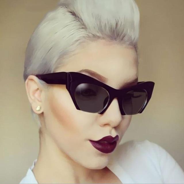 ebde43a975ae7 Luxo Sem Aro Do Vintage Óculos De Sol Das Mulheres Marca Designer Oversized  Retro Feminino Óculos