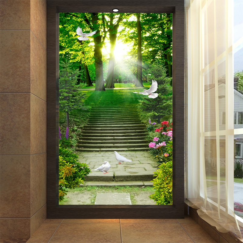 country road trail in forest wallpaper 3d wall mural rolls