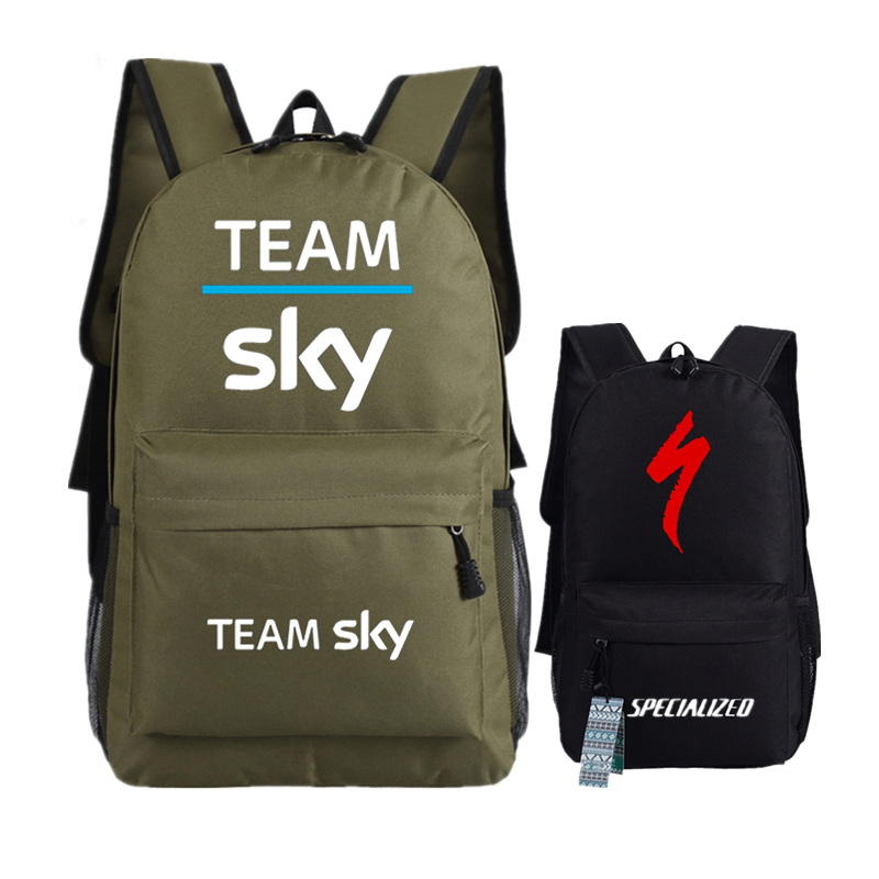 Team Sky Pro Cycle Printing Backpack Unisex Travel  Backpack For Bicycle Fans Canvas Men Military Backpack Fashion Rucksack