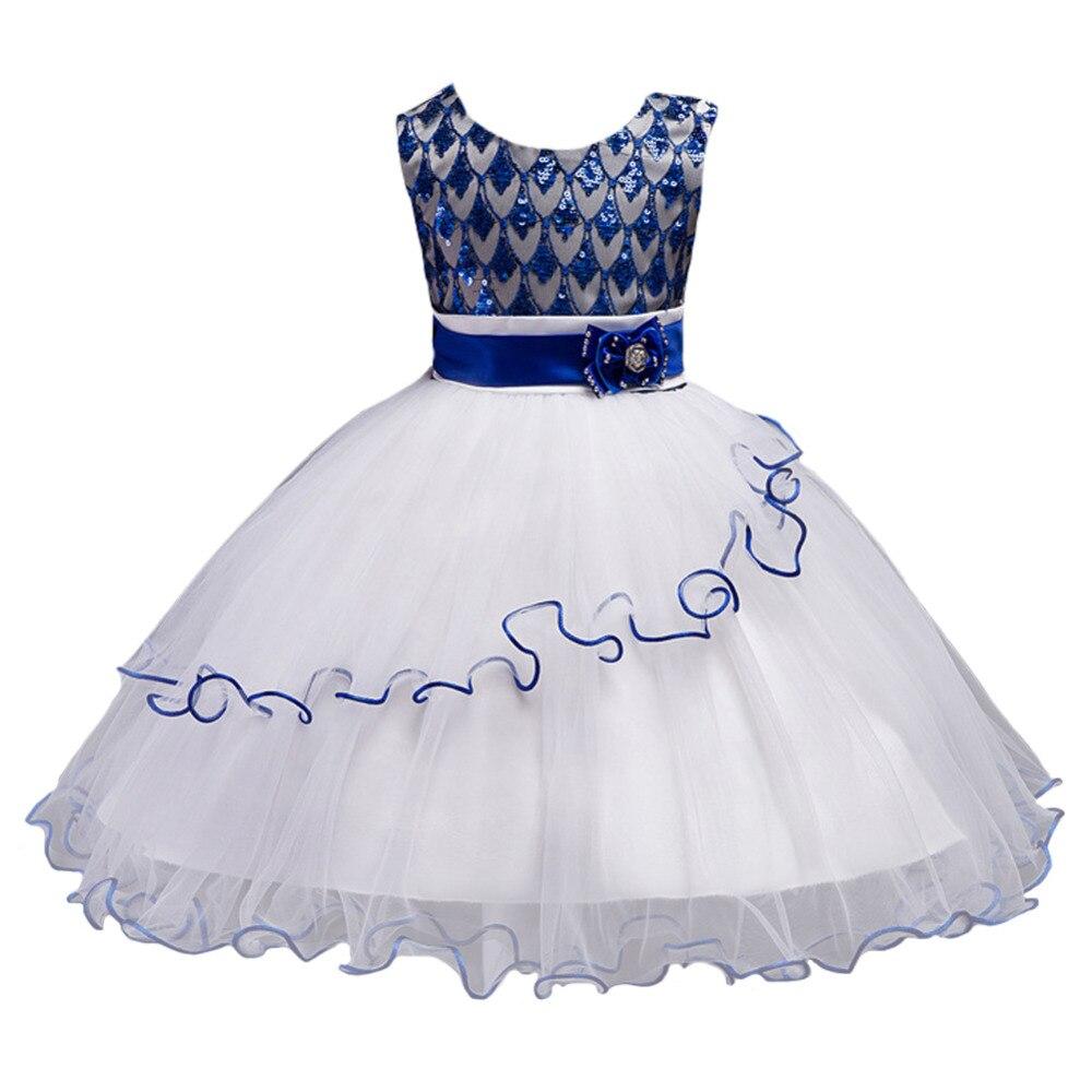 New Baby Girl Dress Kids Dresses for Girls Children Clothing Sequin Sleeveless Princess Dress Girls Clothes