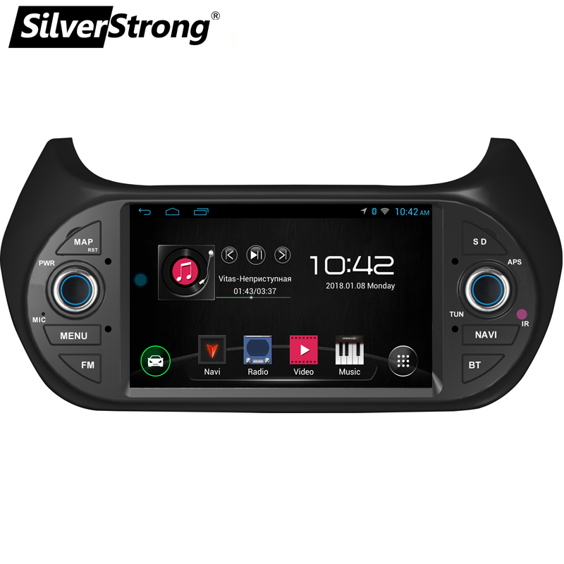 SilverStrong Car Multimedia player GPS Android8.1 Car Radio 1Din DVD For FIAT/Fiorino/Qubo/Citroen/Nemo/Peugeot/Bipper