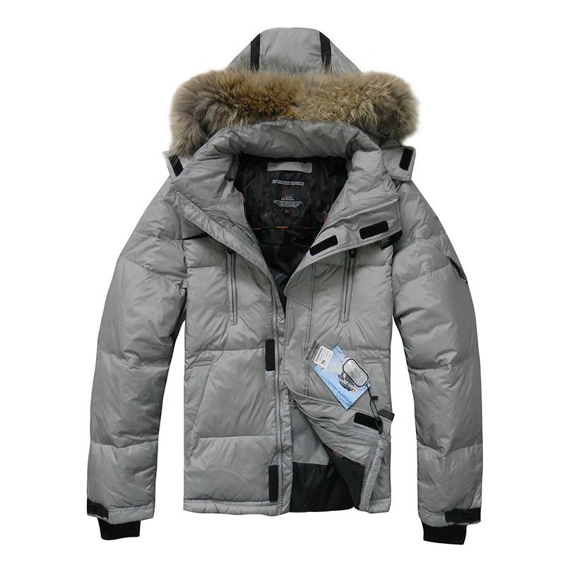 2019 Hot Sale Men   Down   Jacket Winter   Down     Coat   Jacket Waterproof Casual Men Hooded   Down   Jackets Russian Size Free Shipping