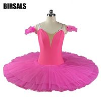 Beauty Rose Red Adult Classical Performance Stage Ballet Tutu Dress Women Dark Pink Professional Classical Dance