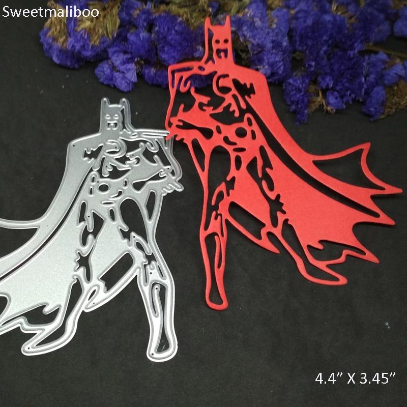 Dies Scrapbooking Stencil Batman Hero Superman Frame Background Metal Cutting Dies New 2019 Stamps Die Cut Party Card Making