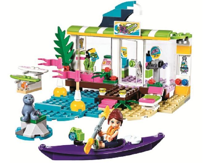 Lepin 01036 Friends Girl Heartlake surf shop Building Blocks kids Educational DIY Bricks toys for Children gift Compatible 41315