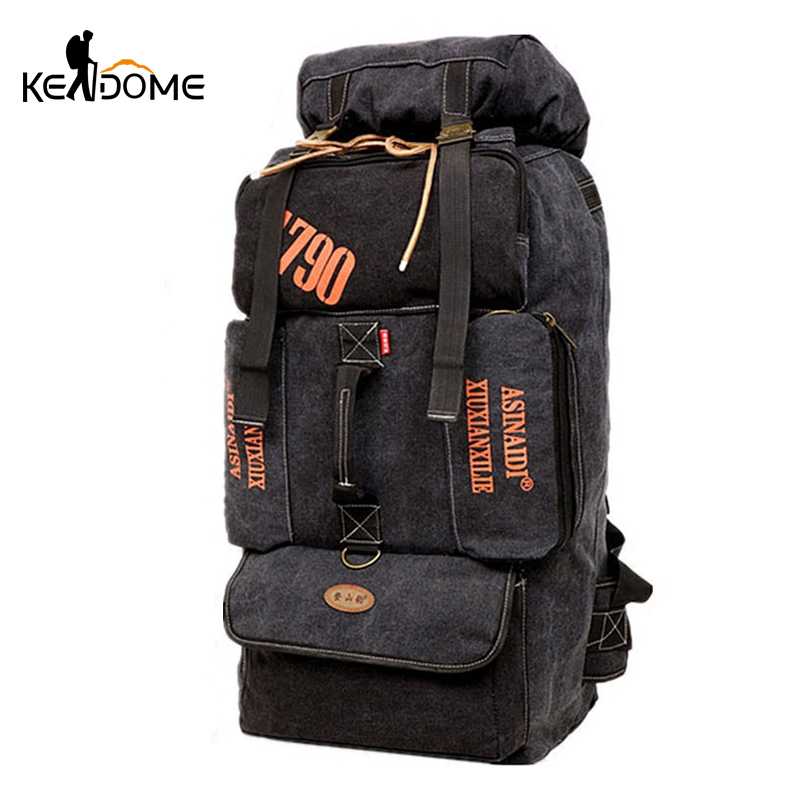 90L Outdoor Large Capacity Mountaineering Bag Men Package Hiking Climbing Camping Backpacks Women Traveling Rucksack XA956WD