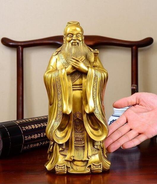 La cina in ottone intaglio Confucio statua-in Statue e sculture da Casa e giardino su  Gruppo 1