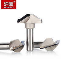 HUHAO 1pc 1/2 Shank PCD Slotter Cabinet Door Router Bit Diamond CVD Coating Trimming Endmill Woodworking Cutter
