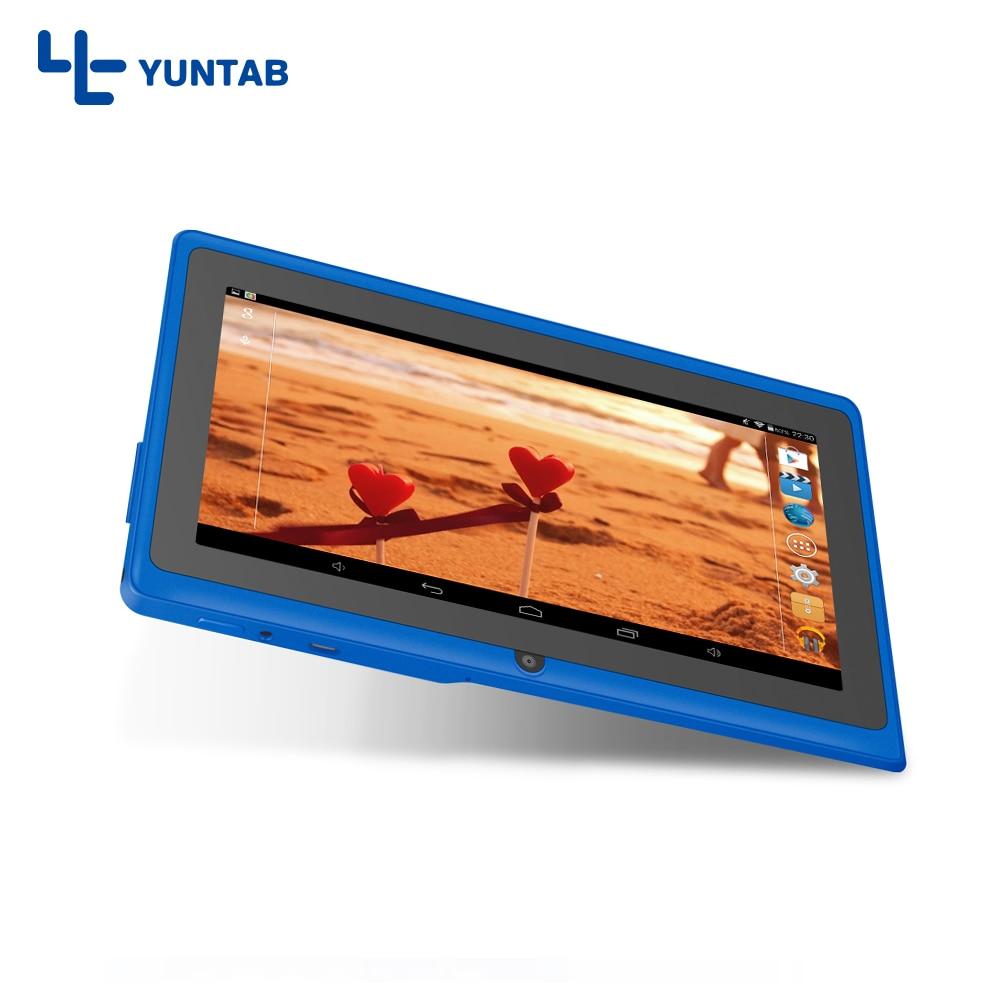 Free shipping 7″ A33 Quad Core 1.5GHz four Colors Q88 7 inch Tablet PC 1024 x 600 Dual Camera 2500mAh 8GB