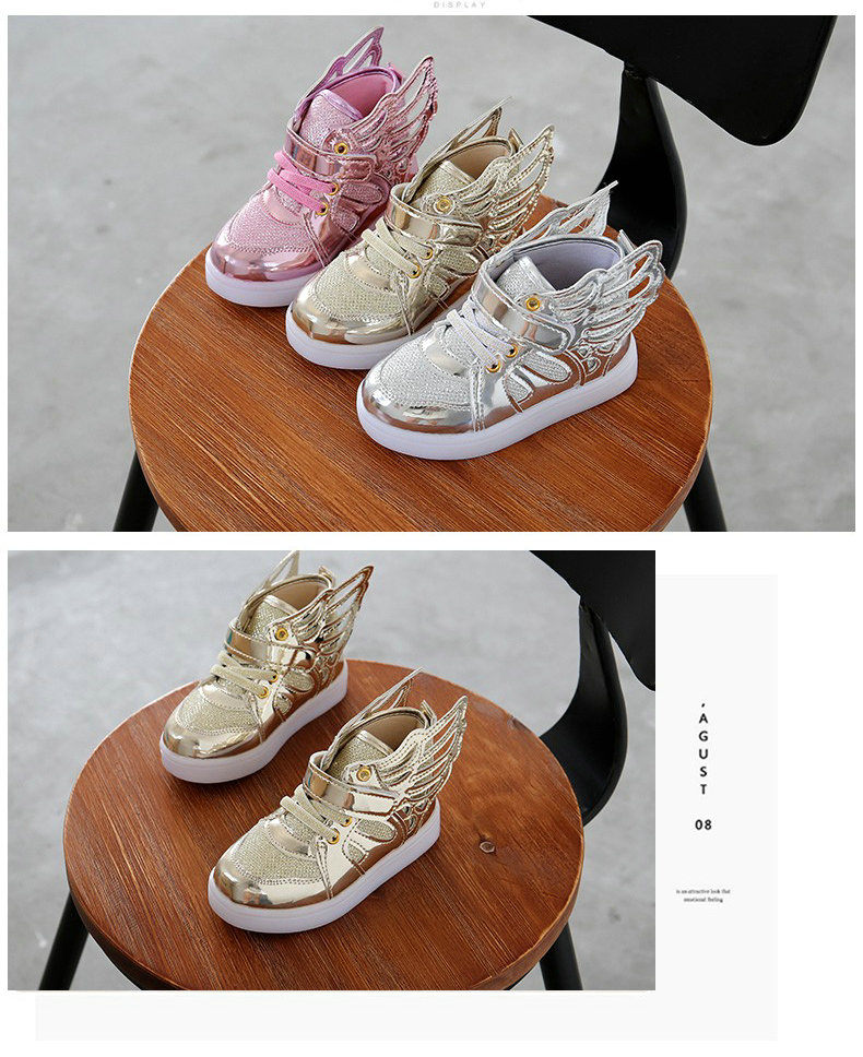 17 Autumn Kids LED luminous Sneakers Glowing Brand Child Breathable Light Flashing Baby Boys Casual Shoes for girl size 21~30 2
