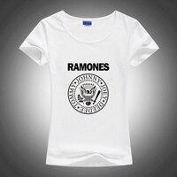 Gildan Ramones Graphic Print T Shirt White Summer Style Women Slim Tshirt Harajuku Mori Swag T