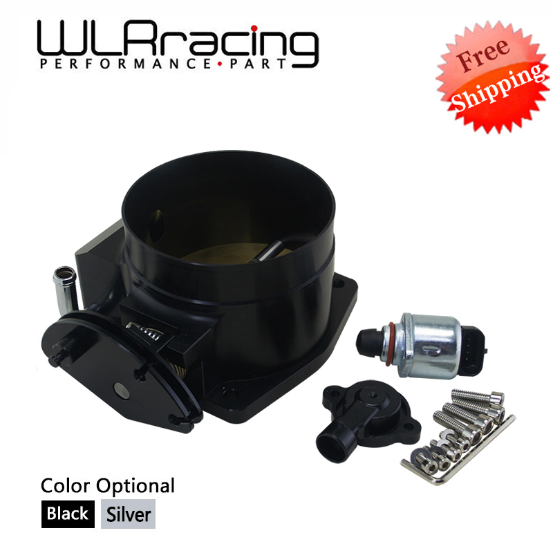 цена на FREE SHIPPING 92mm throttle body + TPS IAC Throttle Position Sensor for LSX LS LS1 LS2 LS6 SILVER WLR6937+5961