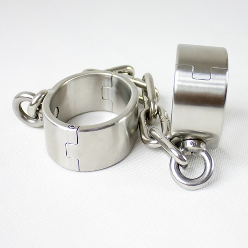 Sex Shackles for Male Stainless Steel Leg Cuffs Legcuffs Bondage Restraints  Fetish Sex Toys for Men Produtos Eroticos G7-23Sex Shackles for Male Stainless Steel Leg Cuffs Legcuffs Bondage Restraints  Fetish Sex Toys for Men Produtos Eroticos G7-23