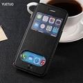 Роскошные оригинальный чехол для apple iphone5 iphone 5 s 5s coque мода pu кожаный чехол посмотреть телефон флип окно стенд сумка чехол
