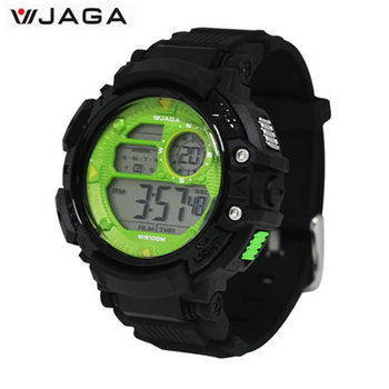 JAGA Men Sports Watches Multifunction Electronic Watches For Men Waterproof Watches Diving Watch Jereo Ny Lehilahy M1086