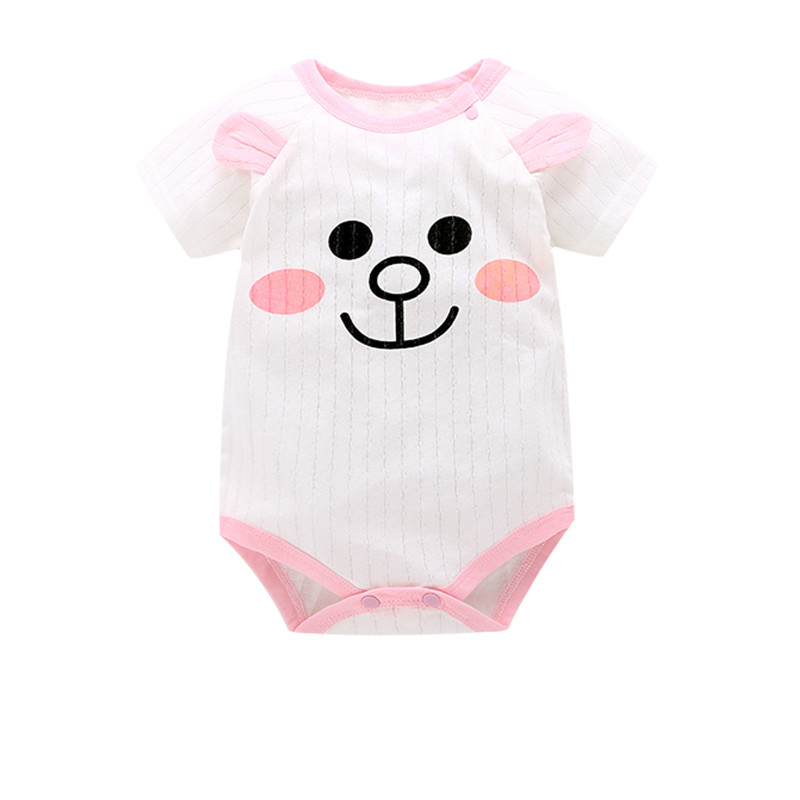 4c653d6bd Dropwow hotCartoon Monkey Short Sleeve Baby Romper Baby Girl One ...